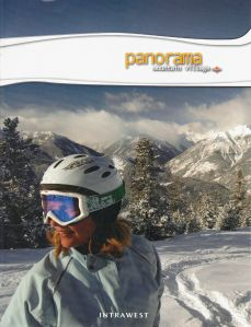 Kristina on cover of 2006 Panorama Mountain Village brochure and trail map.