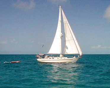 Sailing form Exumas to the Abacos, Bahamas