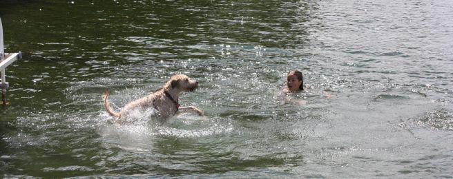 Farley Falling in Water