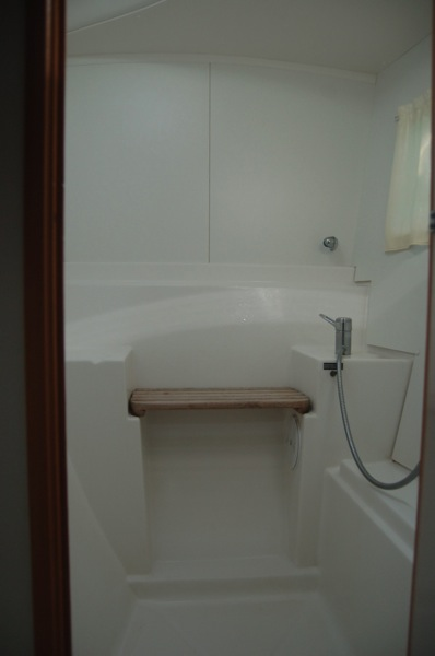 Close up of shower.