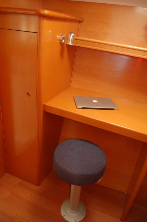 Office in owner's stateroom.