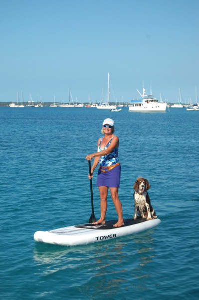 Jasper on Paddle Board