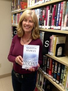 Kristina at Library